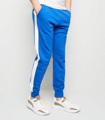 Blue Side Stripe Joggers