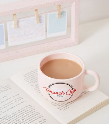 Pink Brunch Club Miami Slogan Mug