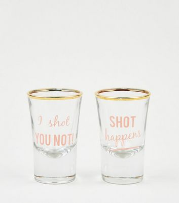 Pink Slogan Shot Glass Set