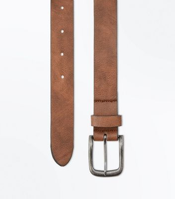 Rust Leather-Look Belt