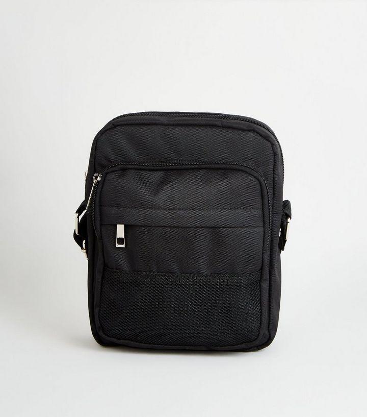 d1df9b9760 Black Mesh Trim Body Bag | New Look