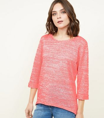 Bright Pink Neon Nep Fine Knit Top