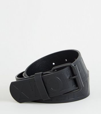 Black Roman Numeral Embossed Belt