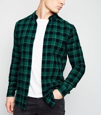 Green Check Long Sleeve Shirt