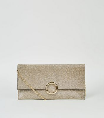 Gold Glitter Ring Front Clutch