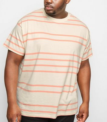 Plus Size Mid Pink Stripe Short Sleeve T-Shirt