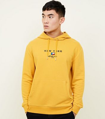 Yellow New York Flag Hoodie