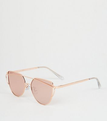 Girls Rose Gold Sunglasses