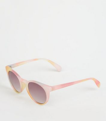 Girls Pink Tie Dye Sunglasses