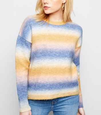 Multicoloured Ombré Stripe Jumper