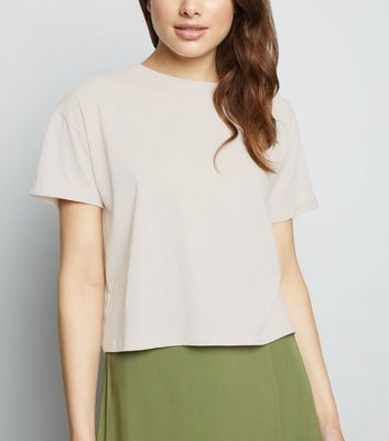 Cream Organic Cotton Boxy T-Shirt