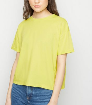 Bright Green Organic Cotton Boxy T-Shirt