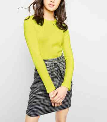Yellow Neon Long Sleeve Top