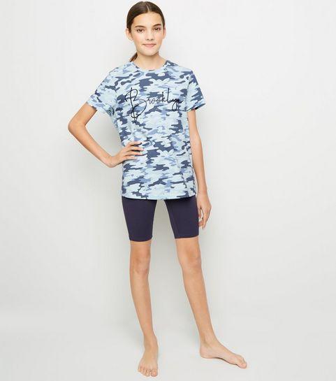 ... Girls Blue Camo Brooklyn Slogan Pyjama Set ... 2aa0dbc87