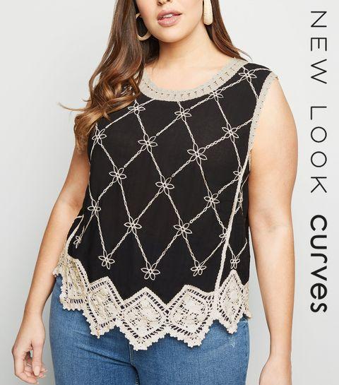 da0c9d749b7c Curves Black Crochet Top · Curves Black Crochet Top ...
