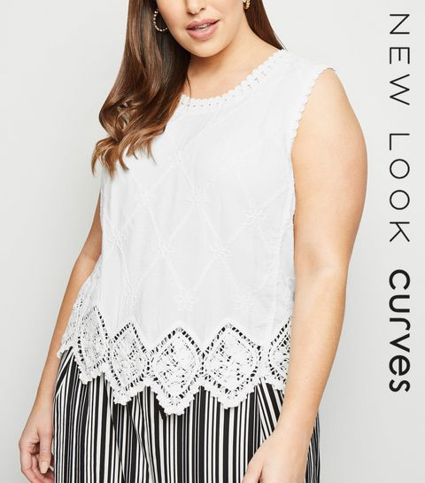 50e1d792903 ... Curves Off White Crochet Top ...