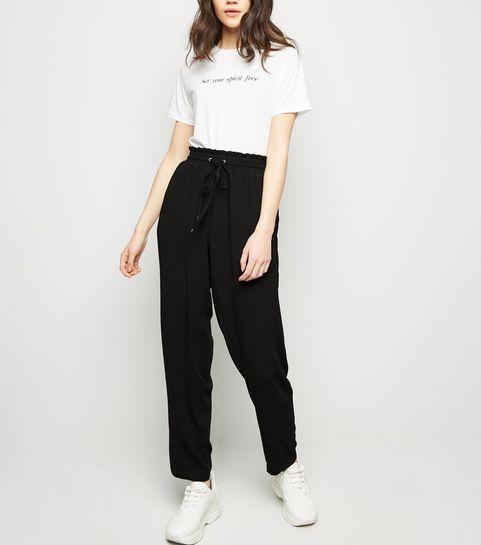 b73b915f9c70 Women's Black Trousers | Black Cropped Trousers | New Look