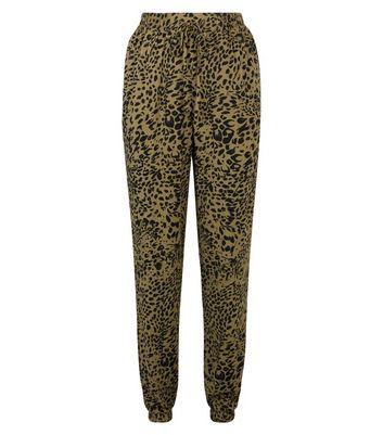 New Look Tall  Leopard Print Joggers