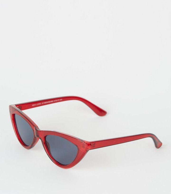 9ba9168b7c Girls Red Cat Eye Sunglasses