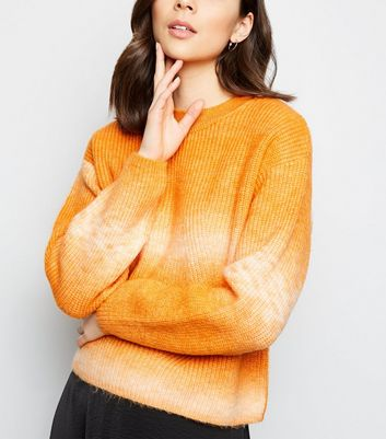 Bright Orange Tie Dye Jumper