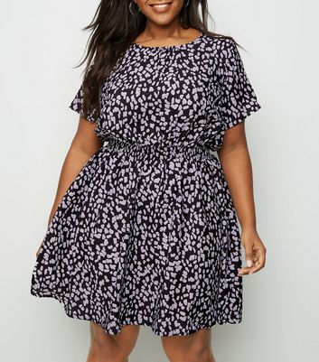 Curves Black Leopard Print Dress