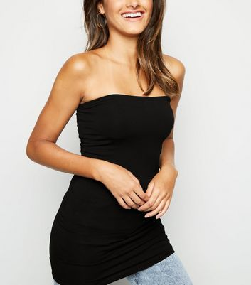 Black Longline Bandeau Top