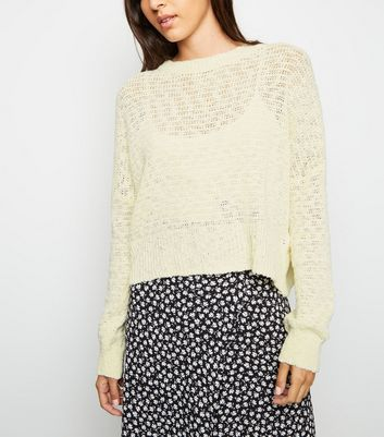 Cream Long Sleeve Slub Knit Jumper