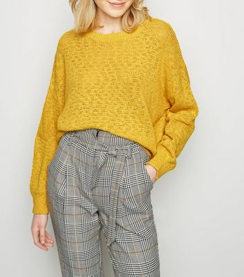 Yellow Long Sleeve Slub Knit Jumper
