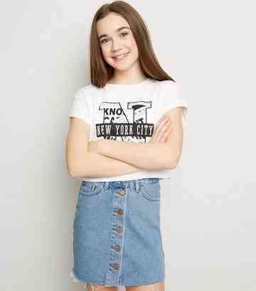bdb6046b10 Girls' Denim Skirts | Girls' Black Denim Skirts | New Look