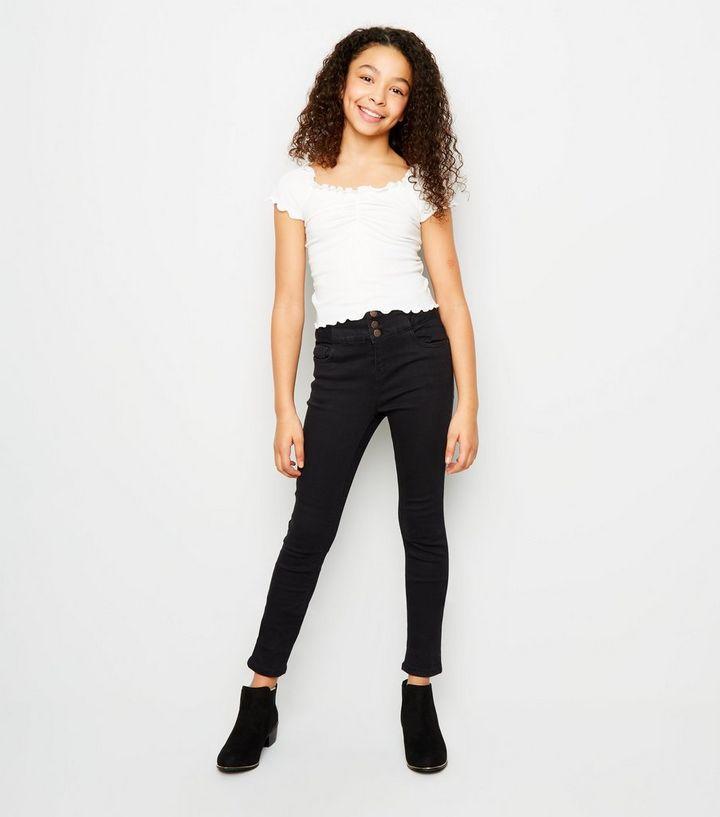 Outlet-Boutique Größe 7 Abstand wählen Girls – Schwarze High Waist Skinny Jeans Für später speichern Von  gespeicherten Artikeln entfernen