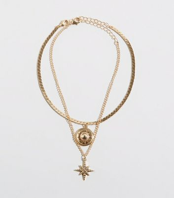 2 Pack Gold Celestial Choker Necklace