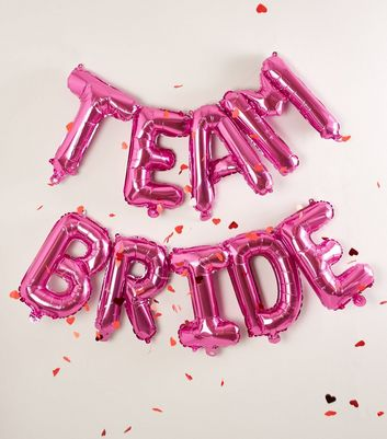 Bright Pink Team Bride Balloon Bunting