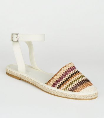Multicoloured Zig Zag Stripe Espadrilles
