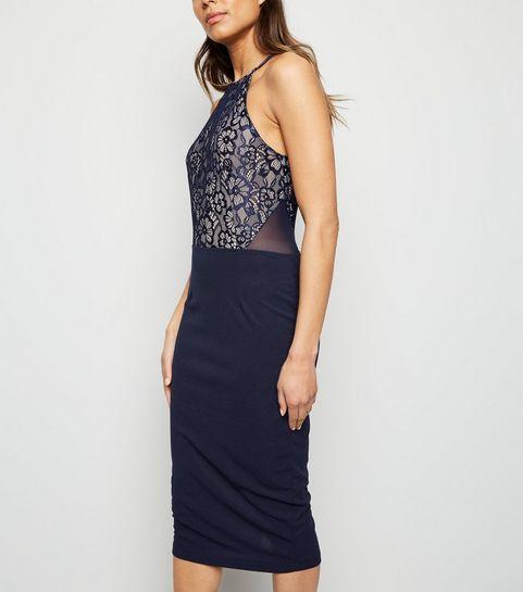 0aab9fd60b ... AX Paris Blue 2 in 1 Lace Midi Dress ...