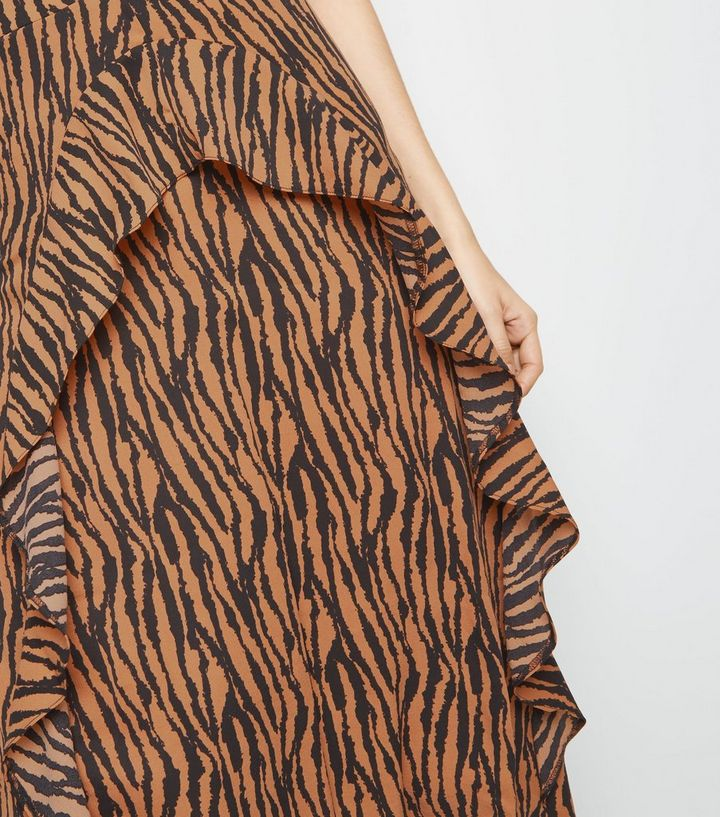 ... AX Paris Brown Tiger Print Dip Hem Midi Dress. ×. ×. ×. Shop the look 397662bc8
