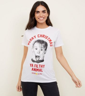 White Home Alone Photographic T-Shirt