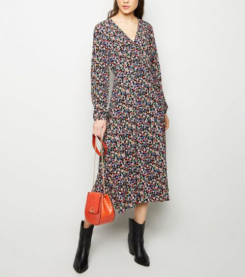 Wrap Dresses   Long Sleeve, Velvet   Midi Wrap Dresses   New Look bf70e4fd8aa7
