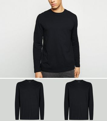 2 Pack Black Long Sleeve T-Shirts