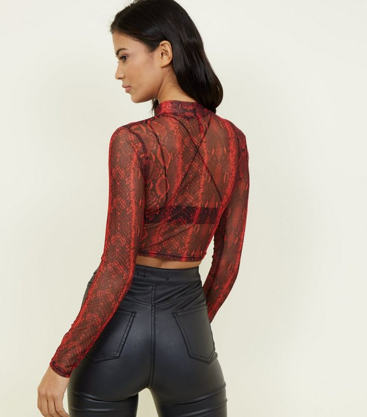 a4fd07b31c4 ... Red Snake Print Mesh Crop Top. ×. ×. ×. Shop the look