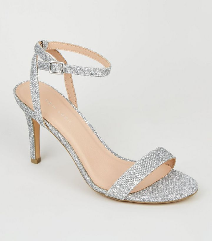 ef08567fd4 Silver Glitter Ankle Strap Sandals | New Look