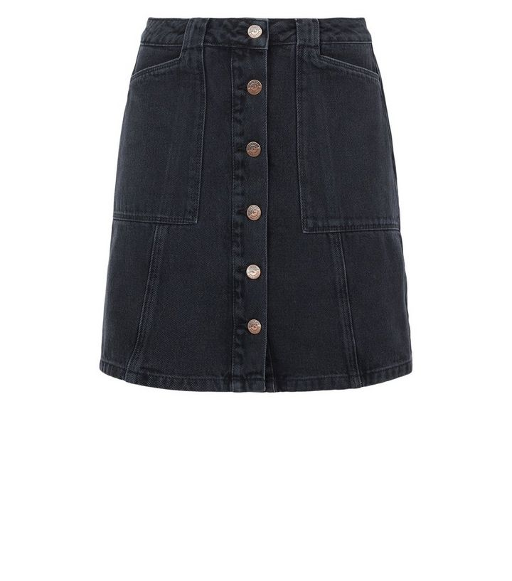 9b3650dc9b ... Black Patch Pocket Denim Skirt. ×. ×. ×. Shop the look