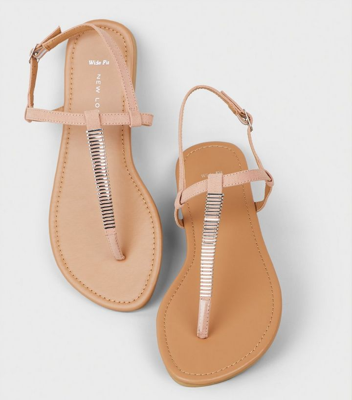 40f0d82f1b81 ... Wide Fit Nude Bar Strap Flat Sandals. ×. ×. ×. Shop the look