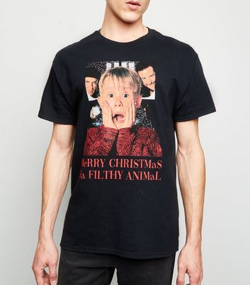 Black Home Alone Christmas T-Shirt