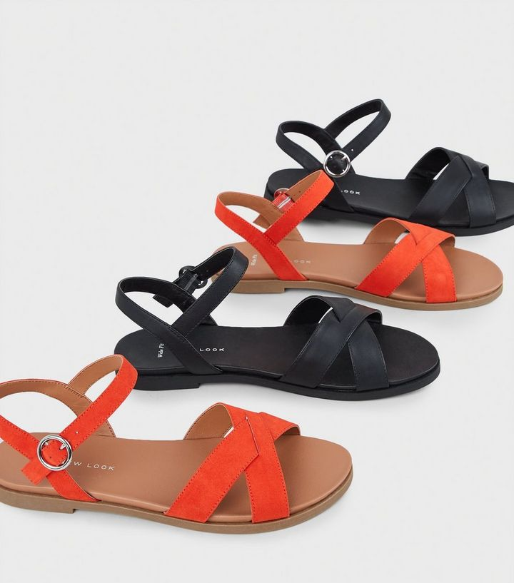 94896d92830 ... Wide Fit Red Cross Strap Footbed Sandals. ×. ×. ×. Shop the look