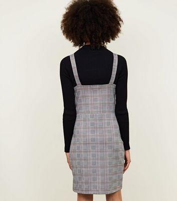 shop for Cameo Rose Grey Prince of Wales Check Pinafore Dress New Look at Shopo