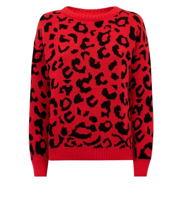 2c514d0f327 Cameo Rose Red Leopard Print Jumper Add to Saved Items Remove from Saved  Items
