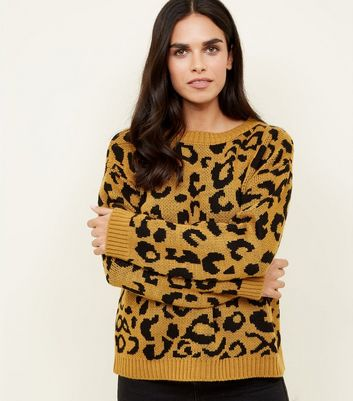 Cameo Rose Yellow Leopard Print Jumper