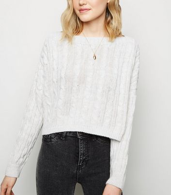 Cameo Rose Cream Cable Knit Jumper