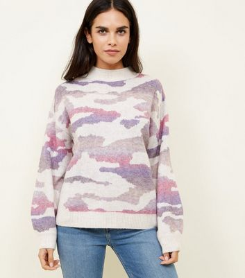 Off white Camo Lilac Jumper