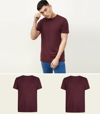 2 Pack Burgundy T-Shirt